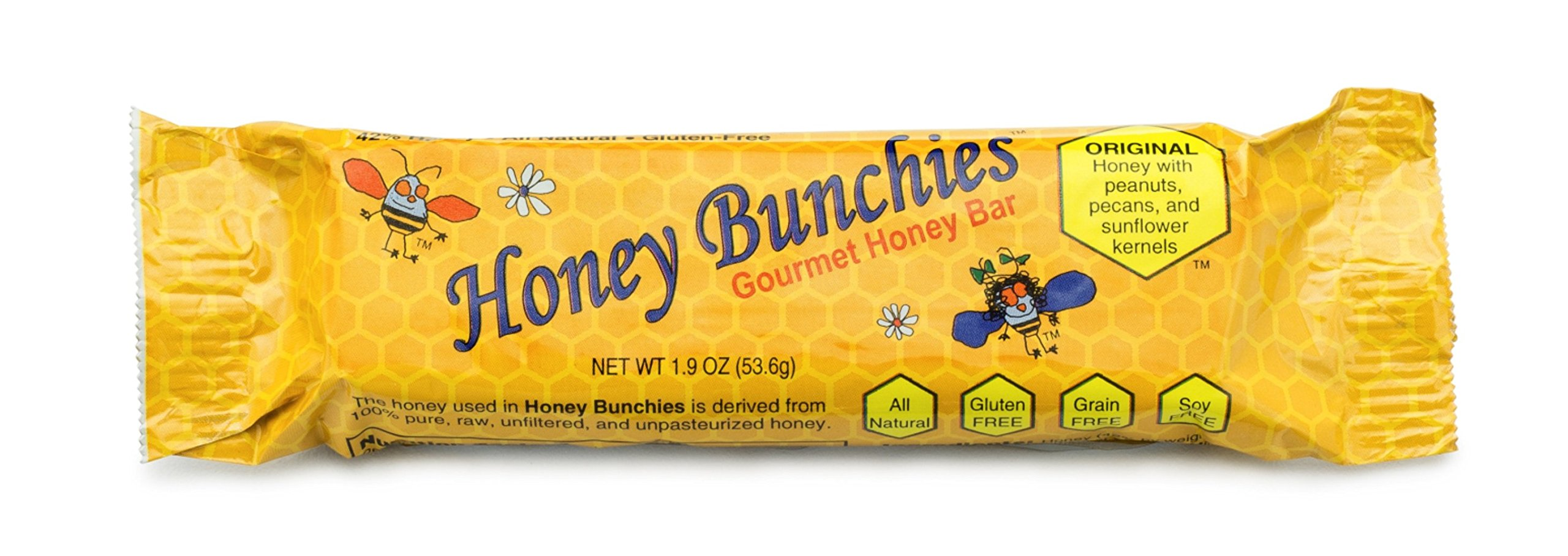 All-Natural Gourmet Honey Bars by Honey Bunchies (10 pack) - Nutritious and Delicious Pure Honey, Peanut, Sunflower Kernel, Pecan - Gluten-Free, Soy-Free, Grain-Free Snack for Energy or Workout by Honey Bunchies (Image #2)