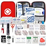 Small-Waterproof Car First-Aid Kit Emergency-Kit - 190 Piece Camping Safety Survival Equipment for Camping Hiking Home Travel