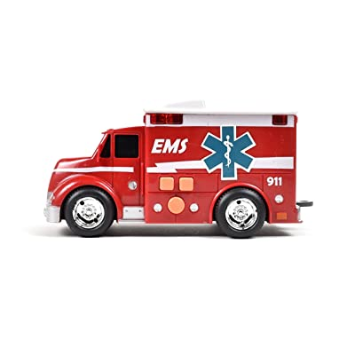 Maxx Action Ambulance with Lights, Sounds and Friction-Rev Motor (Color May Vary): Toys & Games