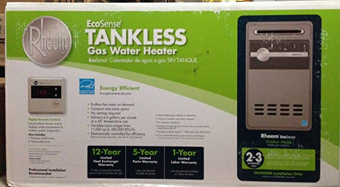 Rheem Ecosense Eco180xp3 8.4 GPM 180, 000 BTU Lp Gas Mid Efficiency Outdoor Tankless Water Heater - - Amazon.com