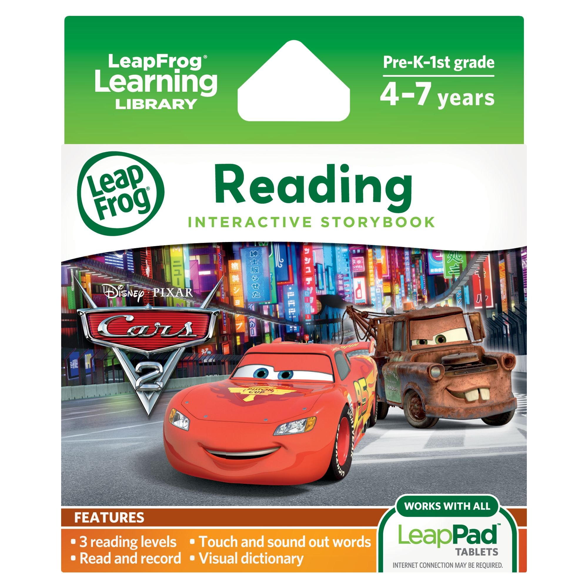 LeapFrog LeapPad Ultra eBook: Disney Pixar Cars 2 (works with all LeapPad Tablets) by LeapFrog (Image #1)