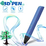 Professional 3D Pen for Kids & Adults, with Adjustable Low-Temperature Safety Mode. 3D Doodle Drawing Printers Compatible with 1.75¡À0.02mm PLA/PCL Filaments- Blue