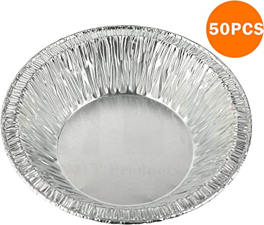 Cooking for Baking 7 Inch Round Tin Foil Pans Disposable Aluminum with Plastic Lids Storage /& Reheating Freezer /& Oven Safe
