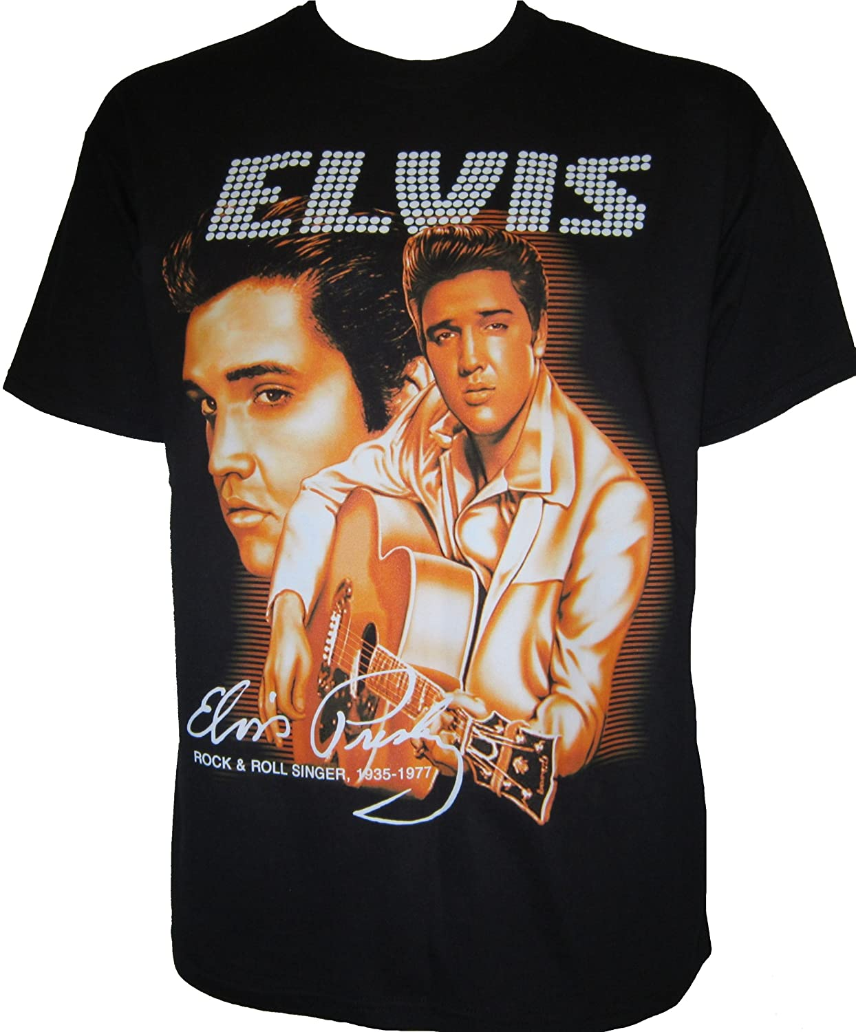 Unisex Goldene Jahre des Rock n Roll Elvis Presley Rockabilly Biker T-Shirt The King