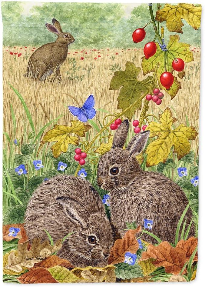 Caroline's Treasures ASA2140GF Leverets and Rabbit Flag Garden Size, Small, Multicolor