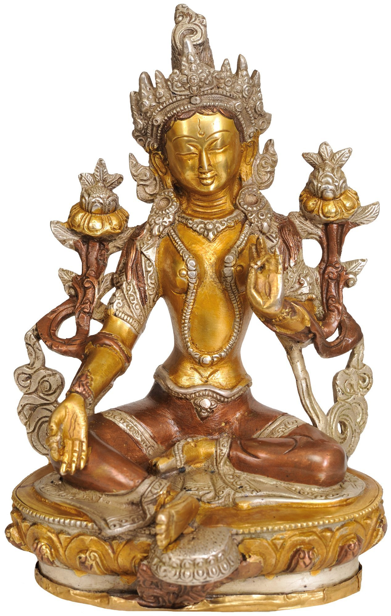 Exotic India ZBW04 Saviour Goddess Green Tara (Tibetan Buddhist Deity)