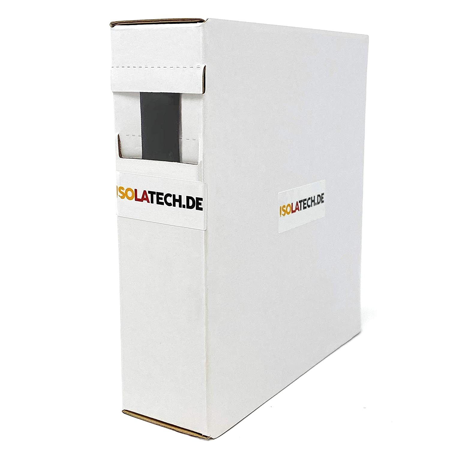 De ISOLATECH Mini Box 3:1 doubl/é dadh/ésif Noir 3,2mm 10m Gaine Thermor/étractable rouleau dans une bo/îte distributeur pratique