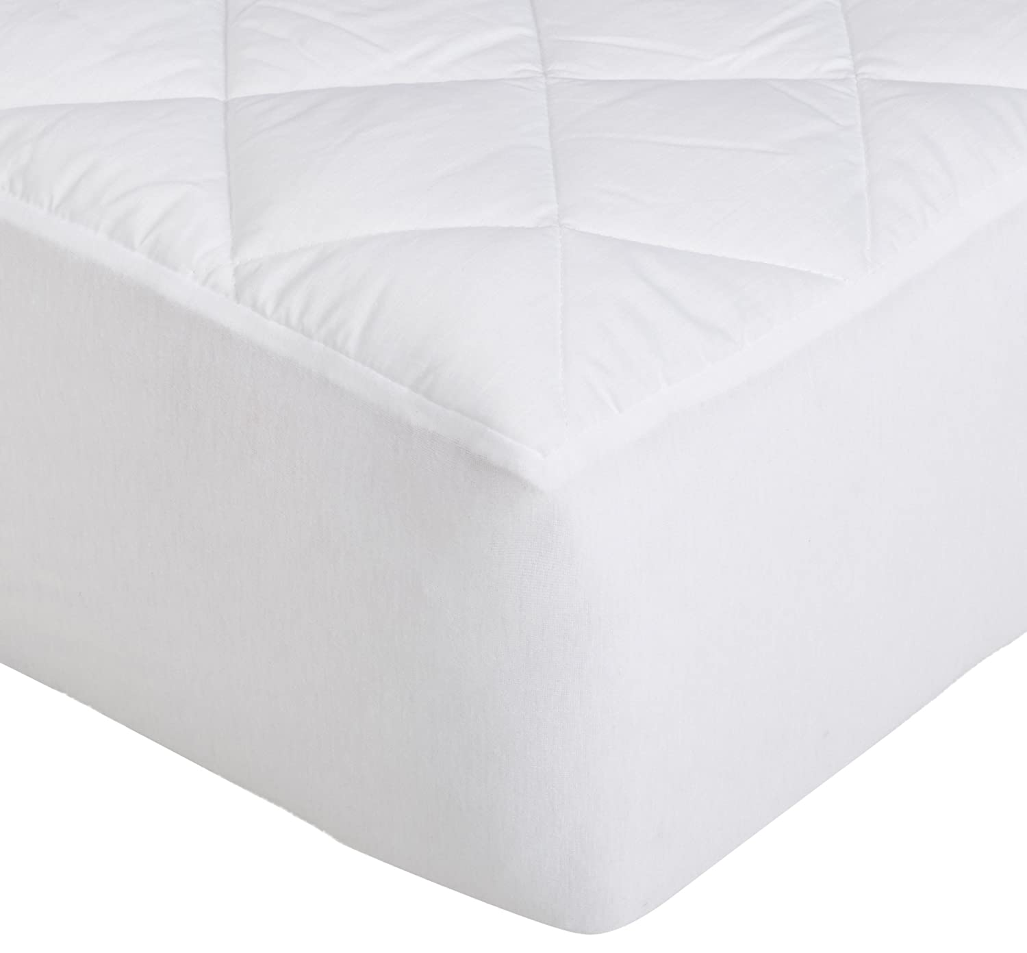Basics Hypoallergenic Quilted Mattress Topper Pad Cover Twin 18 Inch Deep