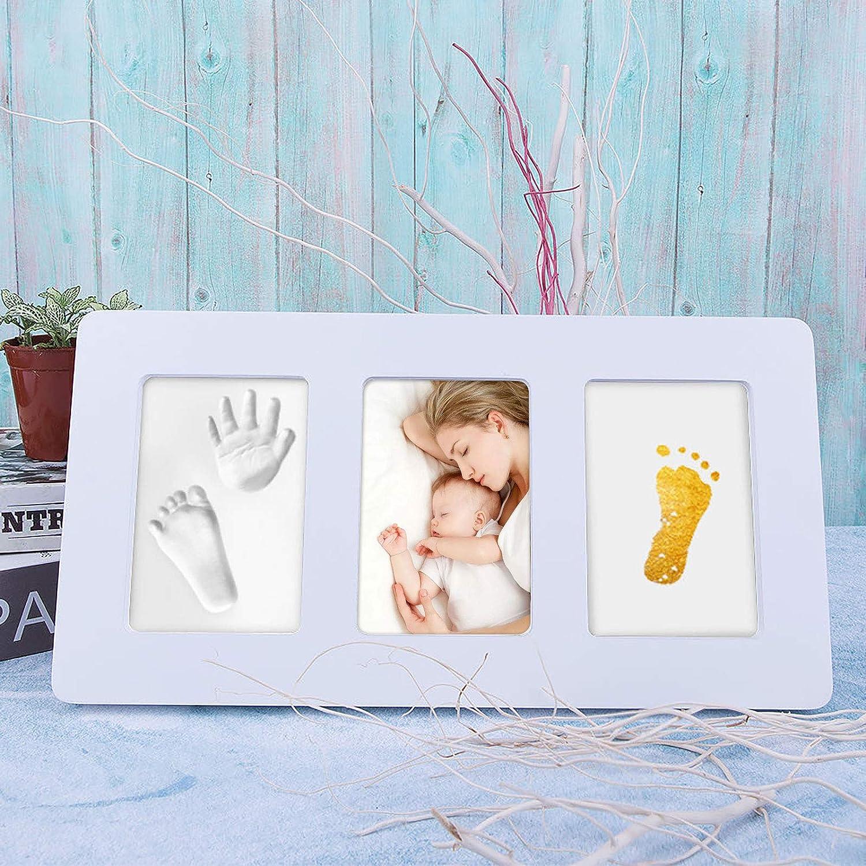 einzigartige Babyparty-Geschenke f/ür die Registrierung ungiftig Wei/ß Guss- und Druck-Kits L-35 * 18cm Acrylglas Baby Handprint Kit-Footprint Fotorahmen Kinderzimmer Bilderrahmen