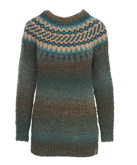Woolrich Women's Roundtrip II Fair Isle Crew Tunic Sweater ...