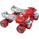 JJ Jonex Kids' Roller Skates Tenacity with Synthetic flaps and Straps (WS_105, White and Red)