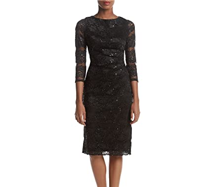 fa9966d5a0a Jessica Howard Sequin Lace Sheath Dress at Amazon Women s Clothing ...