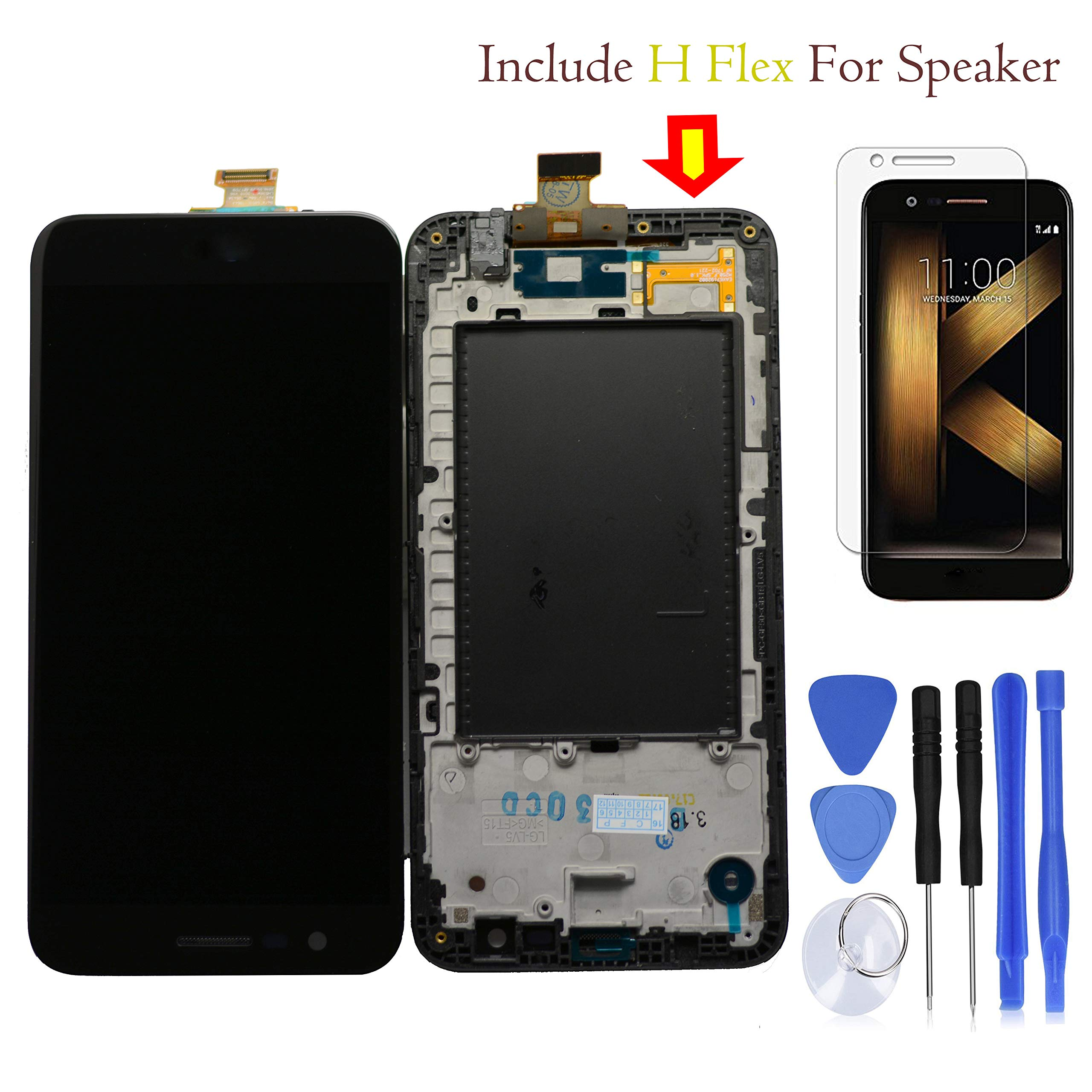 Eaglewireless Best Quality Compatible K20 PLUS Full LCD Assembly With Touch Screen Digitizer and LCD Pre-installed Replacement With Frame Housing For LG K20 Plus T-Mobile TP260 MP260 / Verizon-VS501 by Eaglewireless
