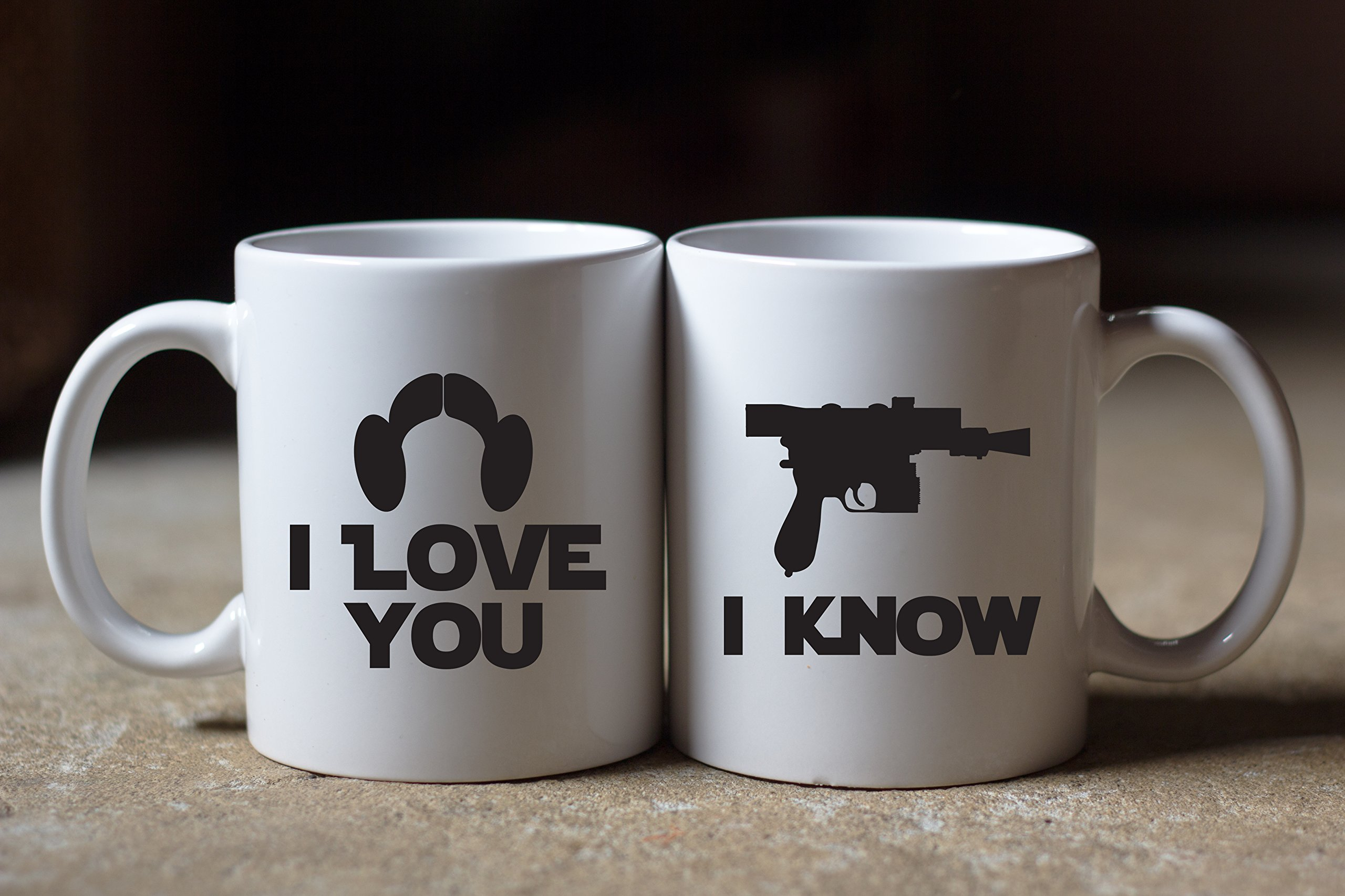Star Wars Inspired I Love You, I Know Coffee Mug Set of 2 Great Gift for Fans Lovers by Bondi Boutique (Image #2)