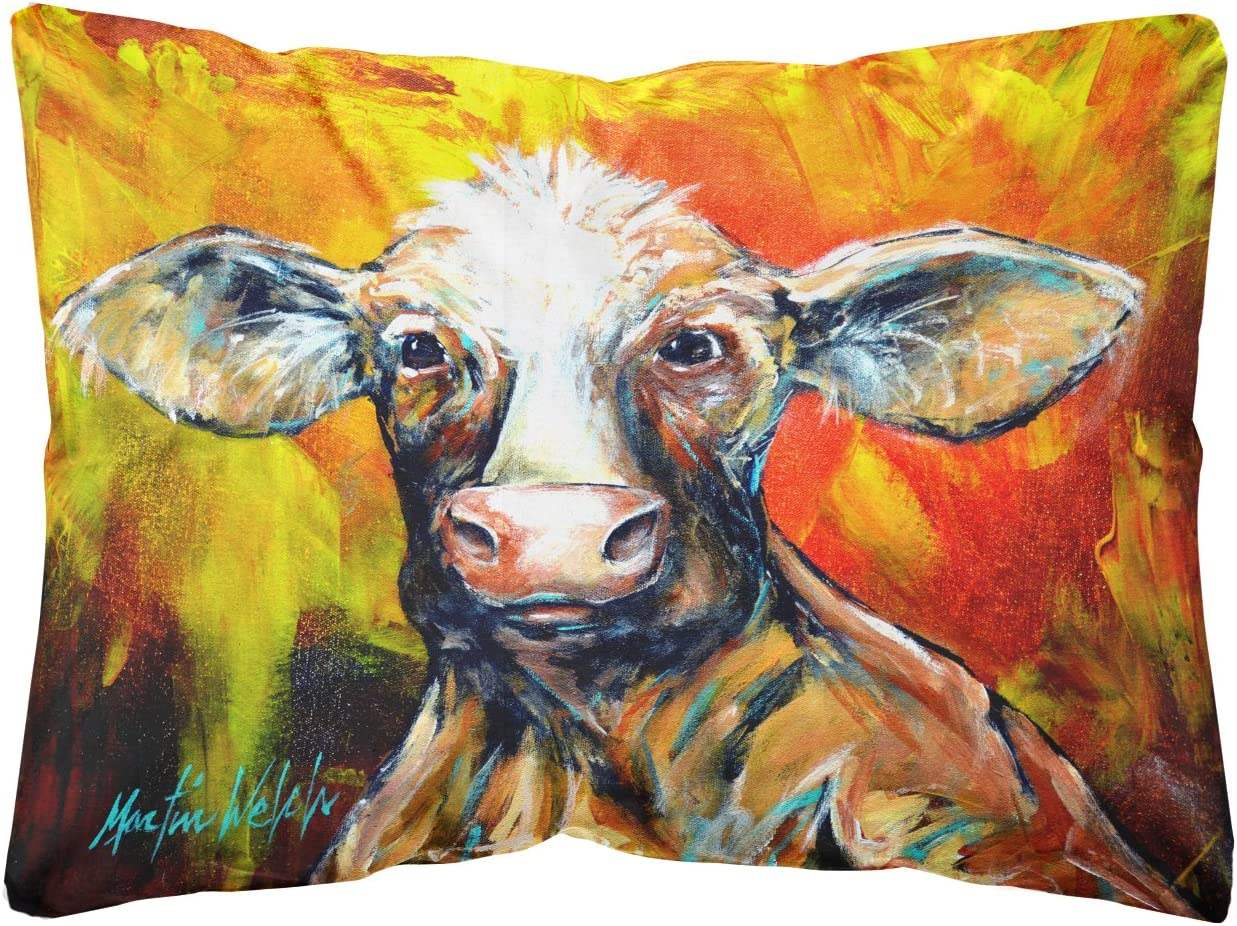 Caroline s Treasures MW1225PW1216 Another Happy Cow Fabric Decorative Pillow, 12H x16W, Multicolor
