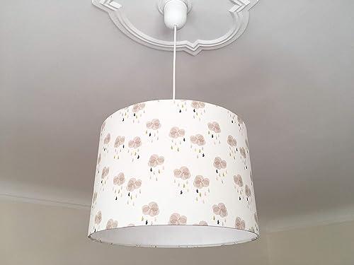 Lampe Kinderzimmer Lampenschirm Wolken pastell, Lampe ...