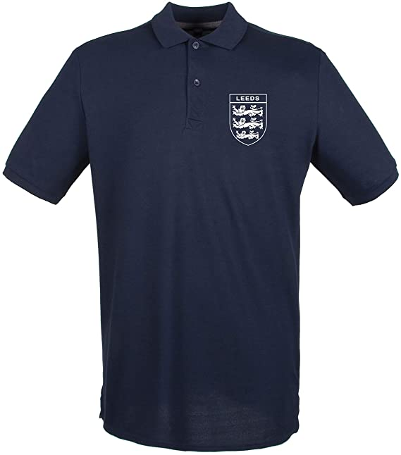 3 Lions LEEDS United Club and Country Polo Small Crest Ladies Navy
