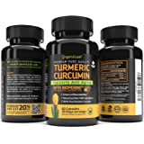 OrganoLeaf Turmeric Curcumin Natural Supplement 1310mg, 60 capsules - PREMIUM Anti-inflammatory & Healthy Anti-oxidant - Powerfull Pain Relief for Joint Arthritis - With Bioperine For Best Absorption