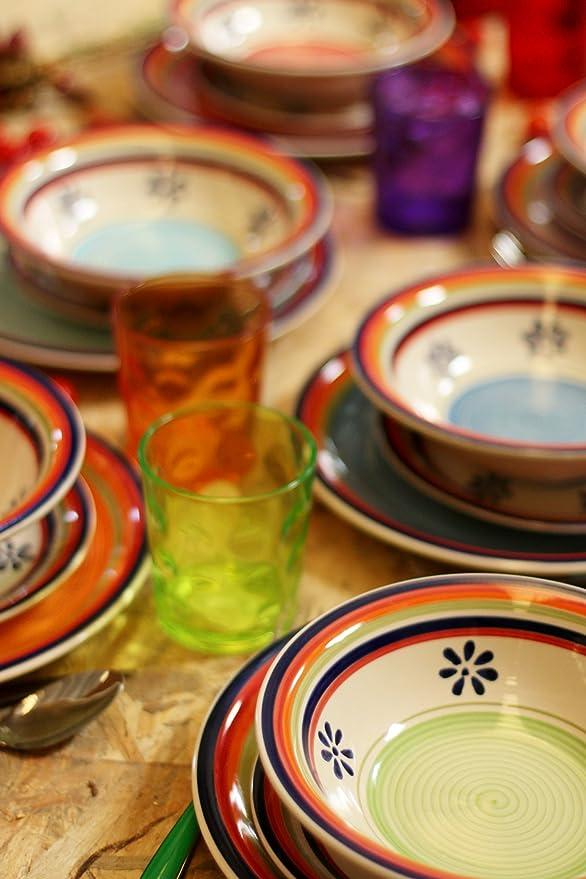 Colorful Table Geschirr-Set Granada, Mehrfarbig, 18-Teilig: Amazon ...