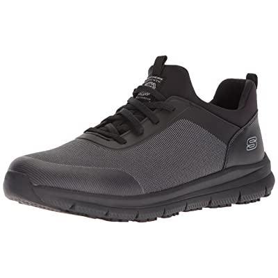 Skechers for Work Men's Wishaw Food Service Shoe,black charcoal textile,7 M US: Shoes