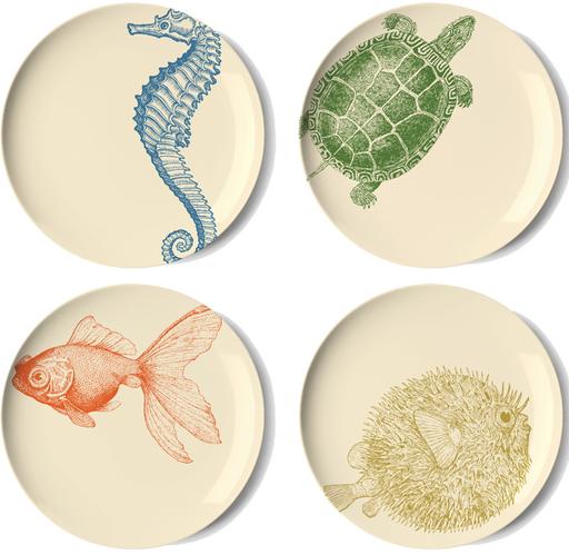 Sea Life Side Plate Set 4 by thomaspaul - Lekker Home