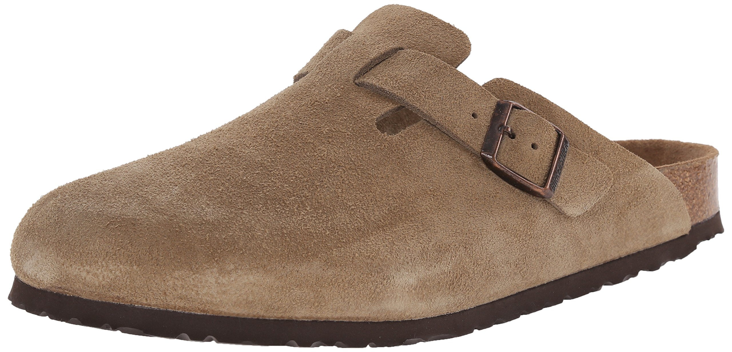 Birkenstock Unisex Boston Soft Footbed, Taupe Suede, 42 M EU