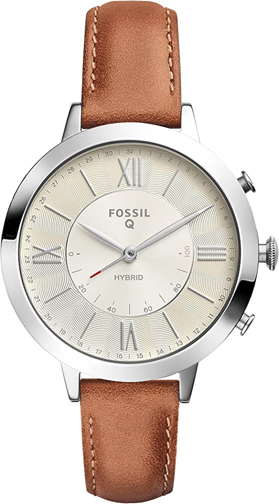 Fossil Womens Jacqueline Stainless Steel Hybrid Smartwatch with Activity Tracking and Smartphone Notifications