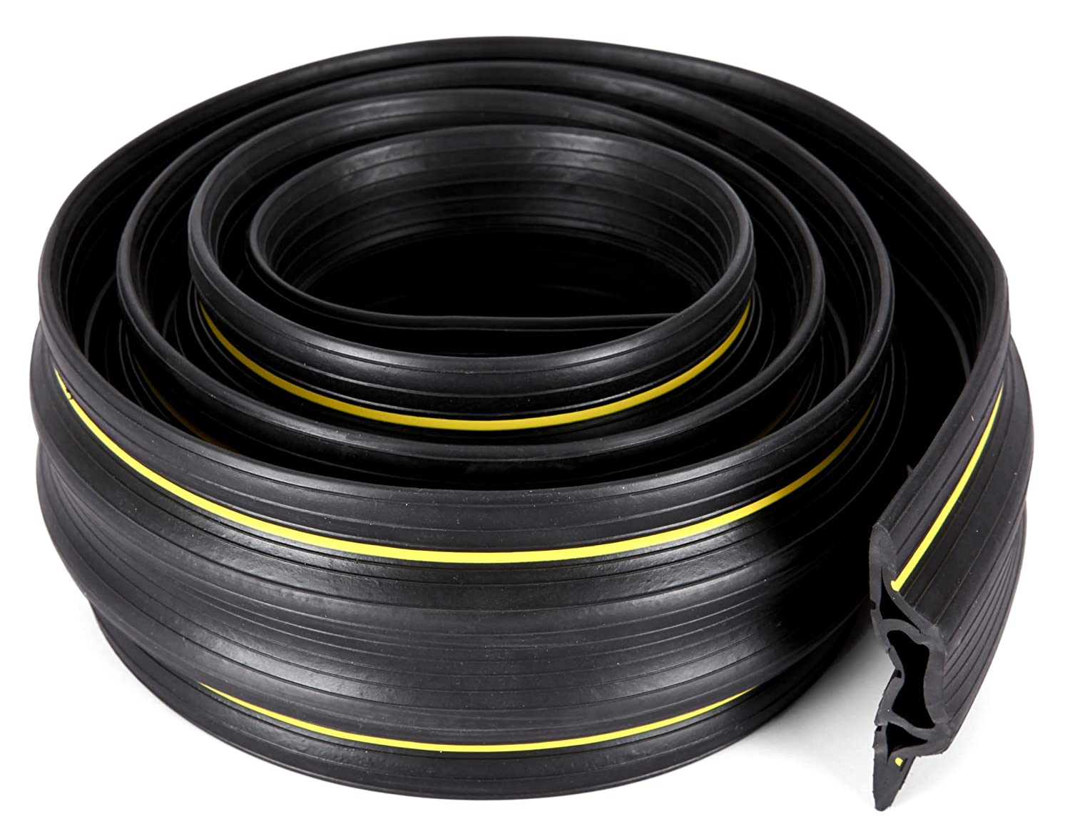 65 Feet Heavy Duty Cable Protector Cord Cover 3 Wiring Specialist Inc Channels Durable Black Pvc Is Flexible Odor Free Easy To Unroll And Open Conceal