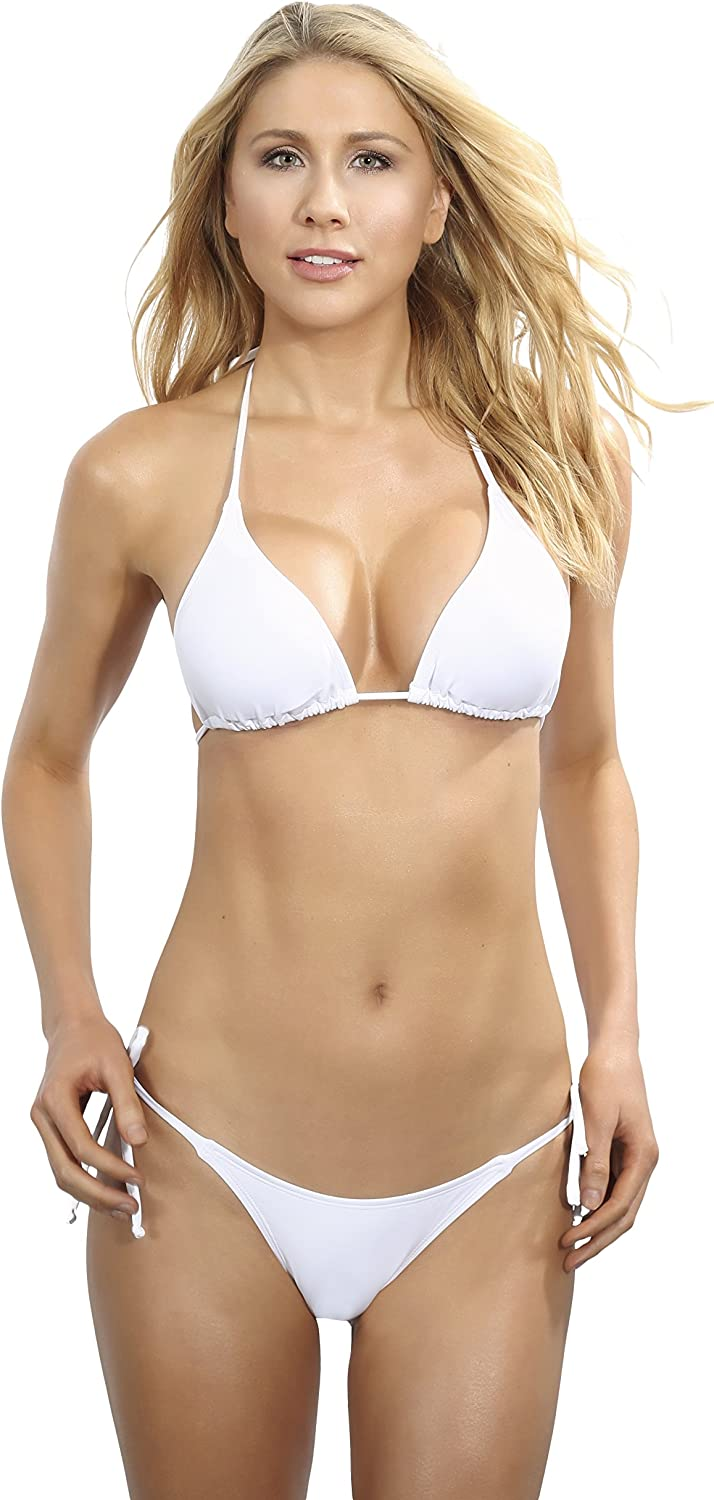 white bathing suit top