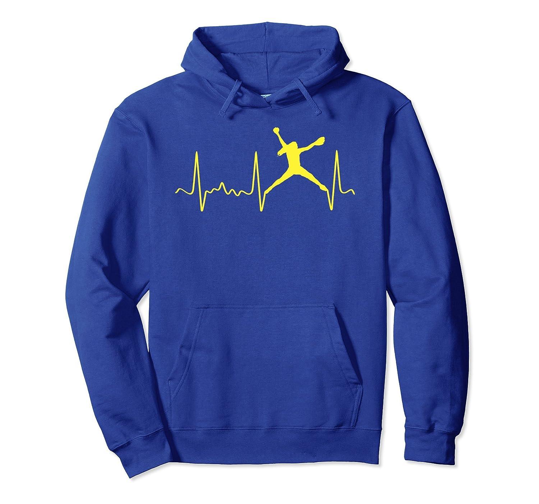 Yellow Softball Pitcher Pulse - Heartbeat Softball Hoodie-TH