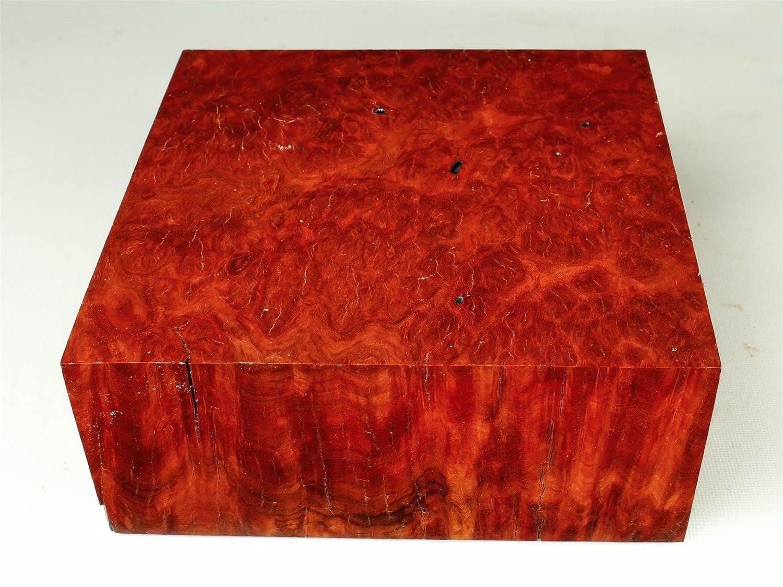 レッドMorrell Burl Exotc木製ボウル空白、ゲームコール、ペンBlanks mor1000 B0796VHNL8
