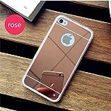 Coque iPhone 4 / 4S Miroir silicone TPU Coloris Rose Etui Housse Bumper