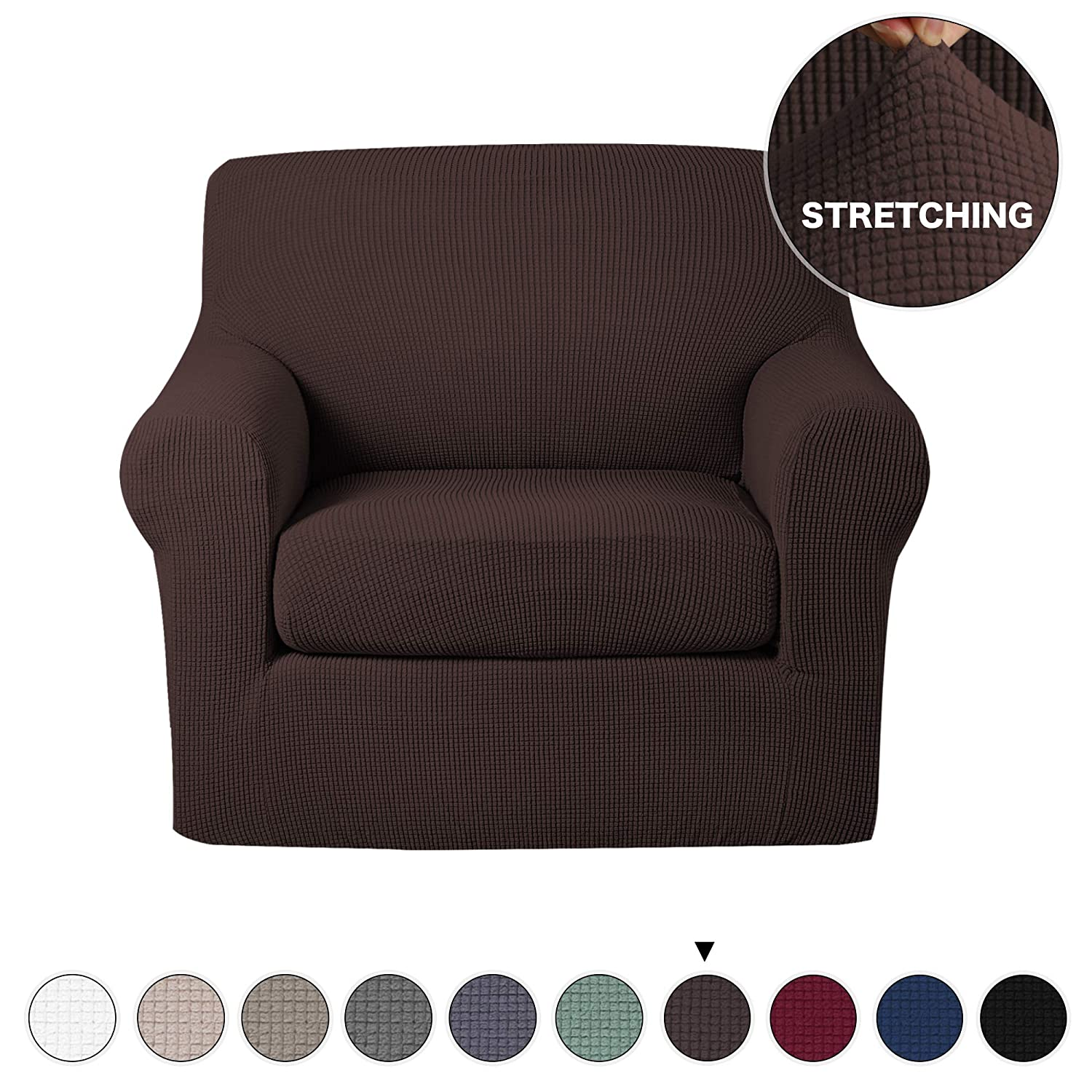 Prime Turquoize Armchair Slipcover 2 Piece Couch Cover With Separate Seat Cushion Cover Spandex Furniture Protector Machine Washable Feature Jacquard Small Beatyapartments Chair Design Images Beatyapartmentscom