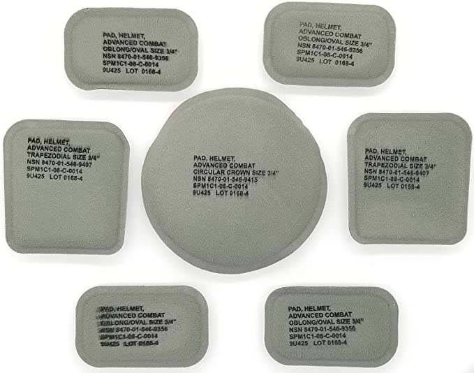 LOT of 8 ARMY ACH LWH HELMET PAD ROUND HOOK SIDE DISCS COINS w// ADHESIVE BACK