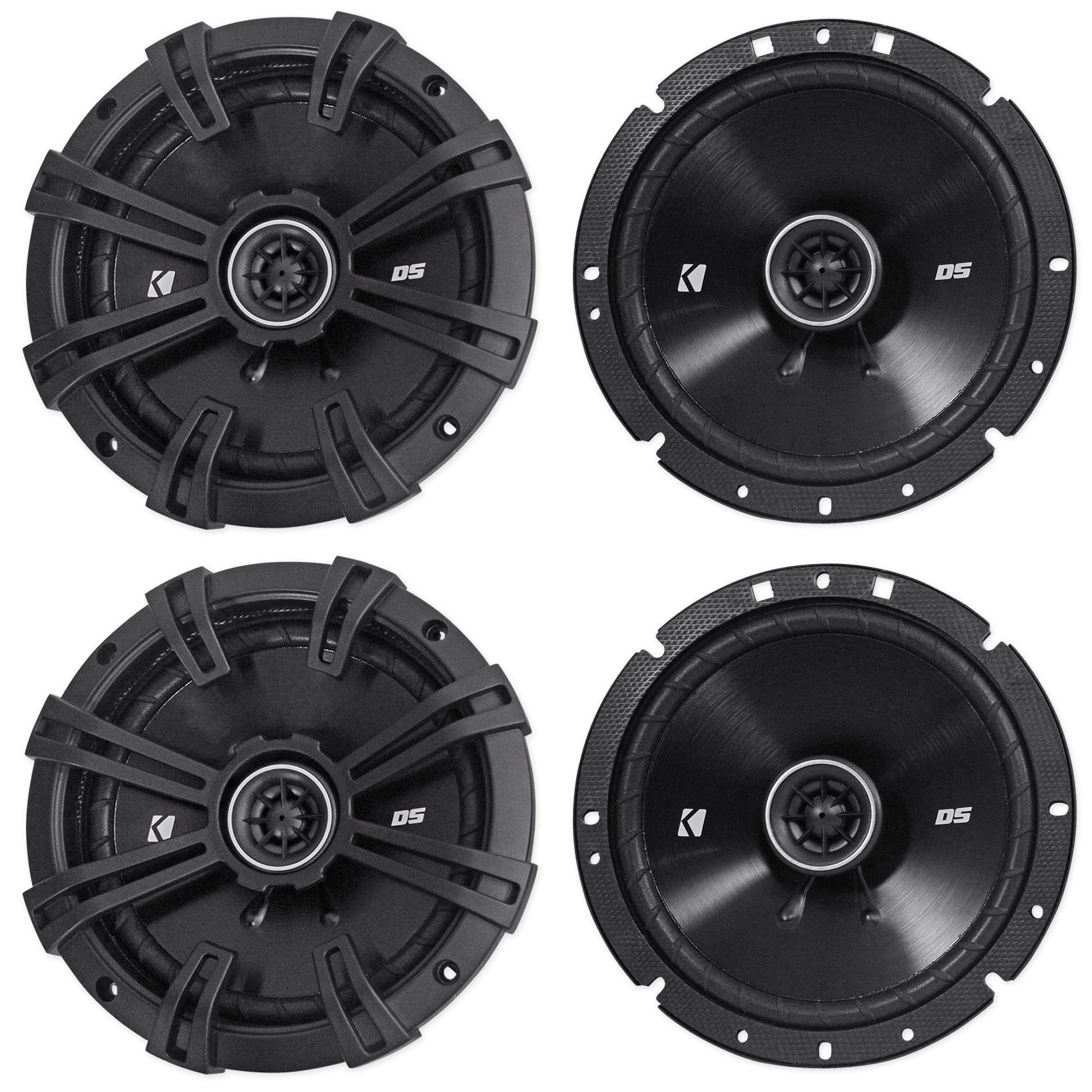 (2) Pairs of Kicker 43DSC6704 DSC670 6.75'' 2-Way Car Audio Speakers Totaling 480 Watt 4-Ohm With Zero Protrusion Tweeters
