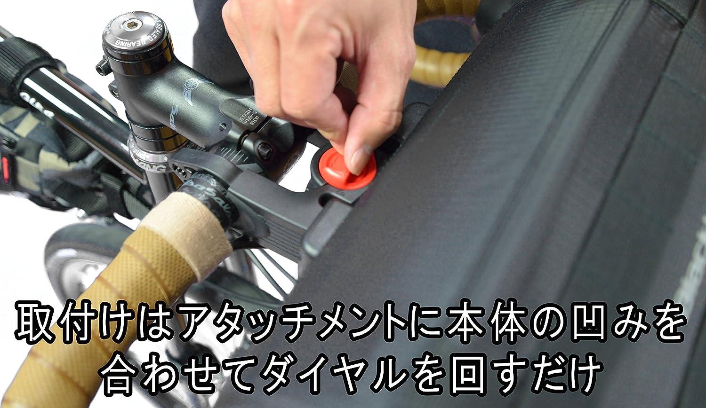取り付けはアタッチメントに本体の凹みを合わせてダイヤルを回すだけ