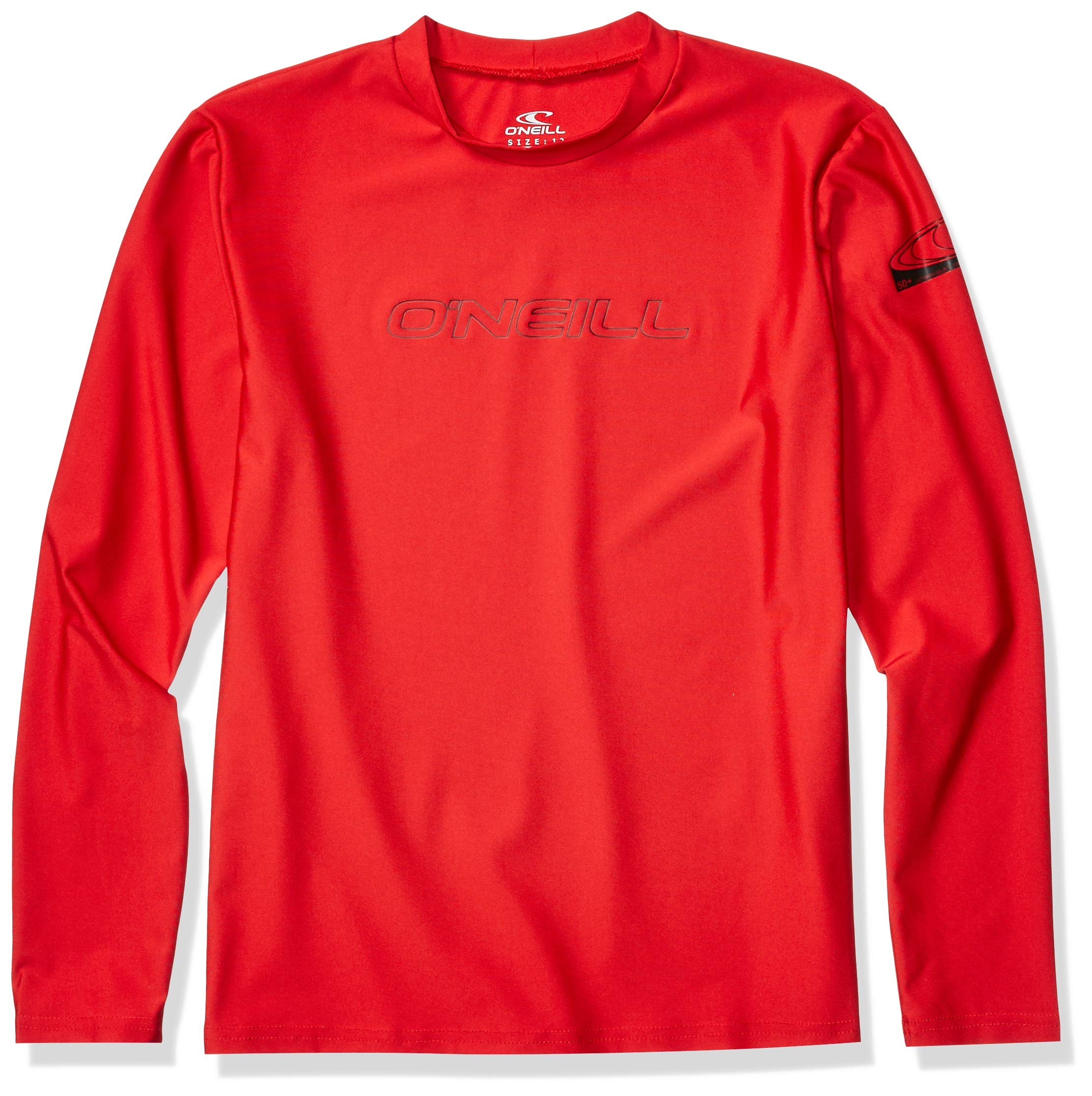 O'Neill Wetsuits Youth Basic Skins UPF 50+ Long Sleeve Sun Shirt, Red, Size 6