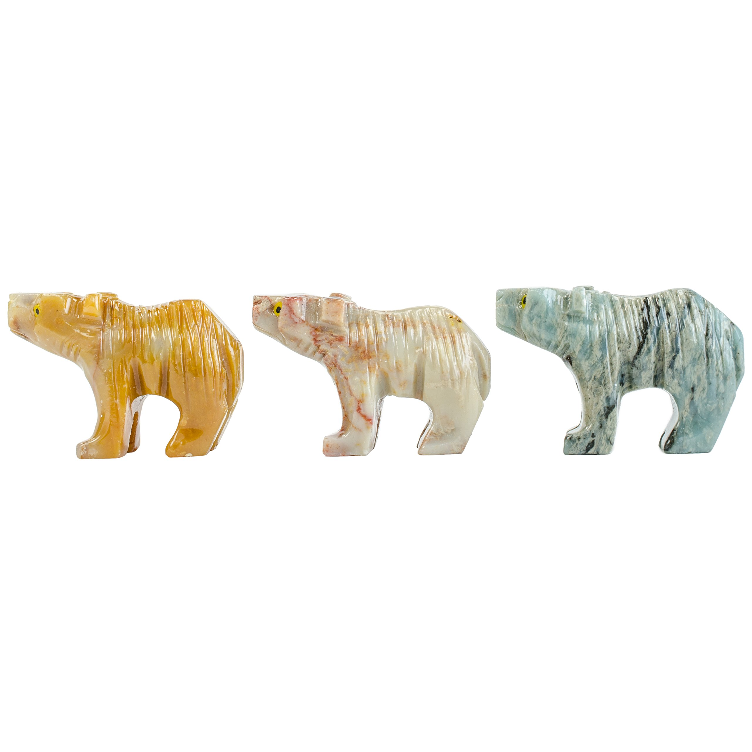 Digging Dolls : 10 pcs Artisan Bear Collectable Animal Figurine - Party Favors, Stocking Stuffers, Gifts, Collecting and More!