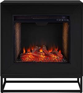 SEI Furniture Frescan Alexa-Enabled Electric Fireplace, Black