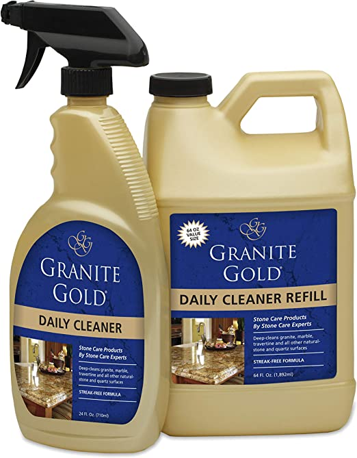 Bundle with Microfiber Cloth Granite Quartz Tile Travertine Limestone Slate Clean Stone Care International Granite Cleaner