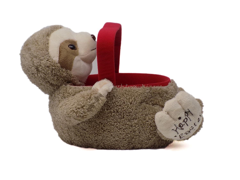Amazon.com: Sloth Plush Easter Bunny Bucket Basket Soft with ...