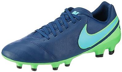 pretty nice 3b370 dcdd1 Nike Tiempo Genio Ii Leather Fg, Chaussures de foot pour homme, Bleu  (Coastal