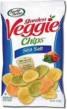 24-Pack Sensible Portions Garden Sea Salt 1 Ounce Veggie Chips