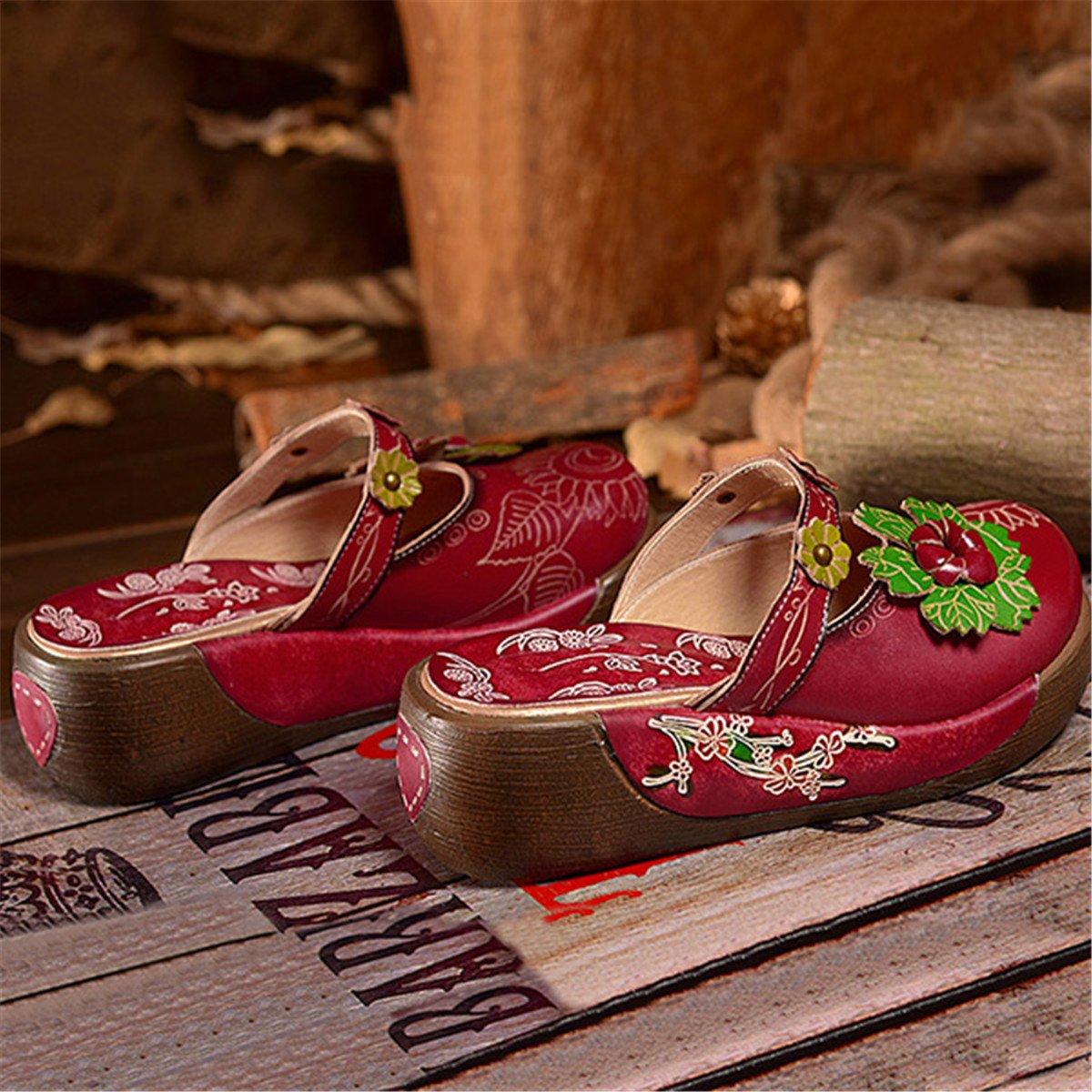 Cuero Mocasines Mujer Socofy Sandalias De Para Zapatilla N80nwkxop tshrdCQ