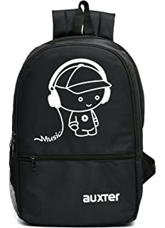 a84ead8aee AUXTER Music 15 LTR Black Casual Backpack: Amazon.in: Bags, Wallets ...