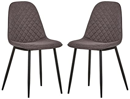 950a19495c22 Image Unavailable. Image not available for. Color: Rivet Ray Mid-Century  Modern Kitchen Dining Room Set of 2 Stitch Back Accent Chairs
