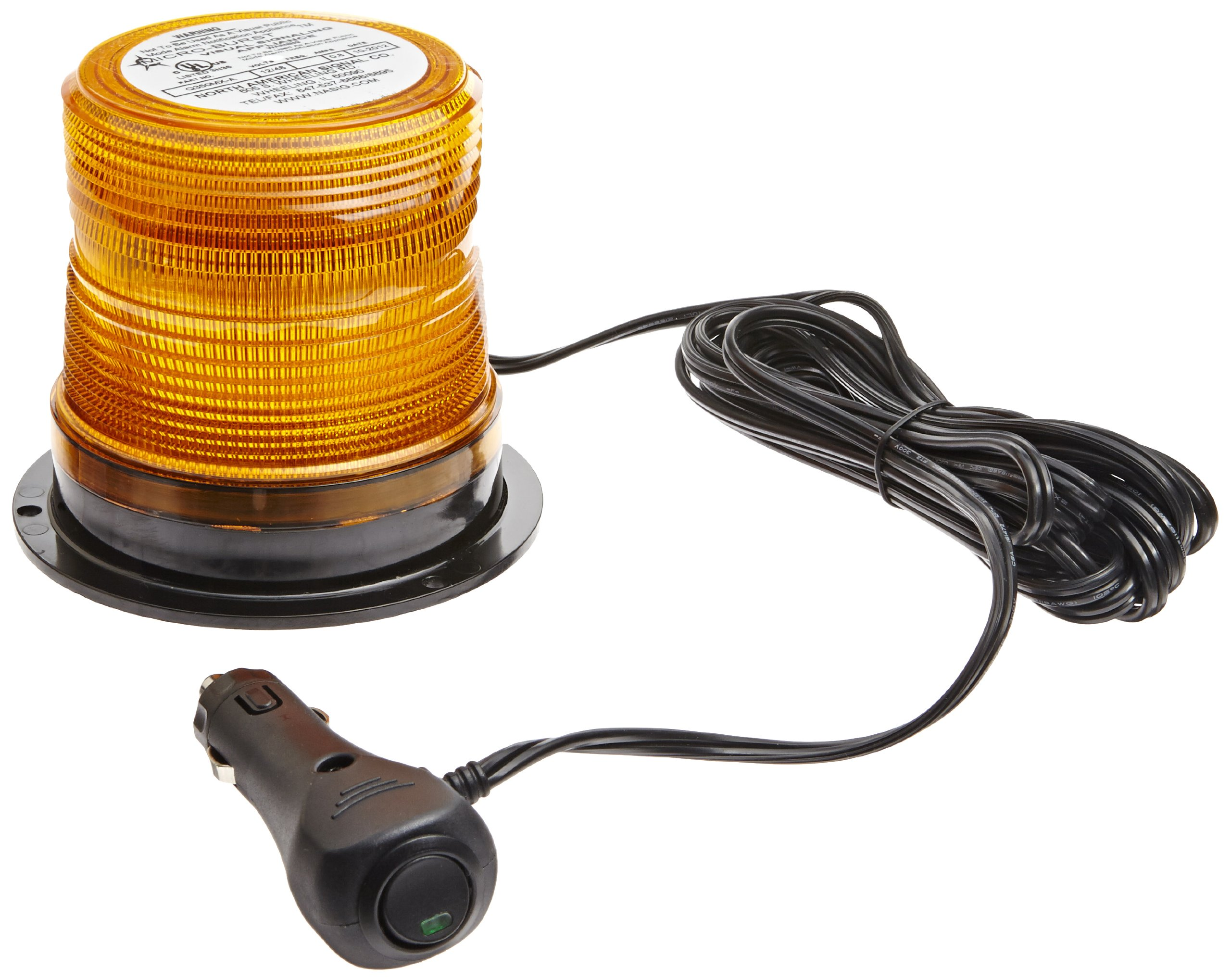 Jackson Safety 18369 Mini Strobe with Plugs into Lighter, 4'' Diameter x 3-1/2'' Height, Amber
