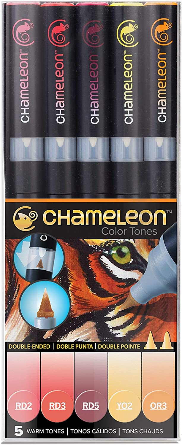 Chameleon Art Products, Chameleon 5-Pen, Warm Tones Set