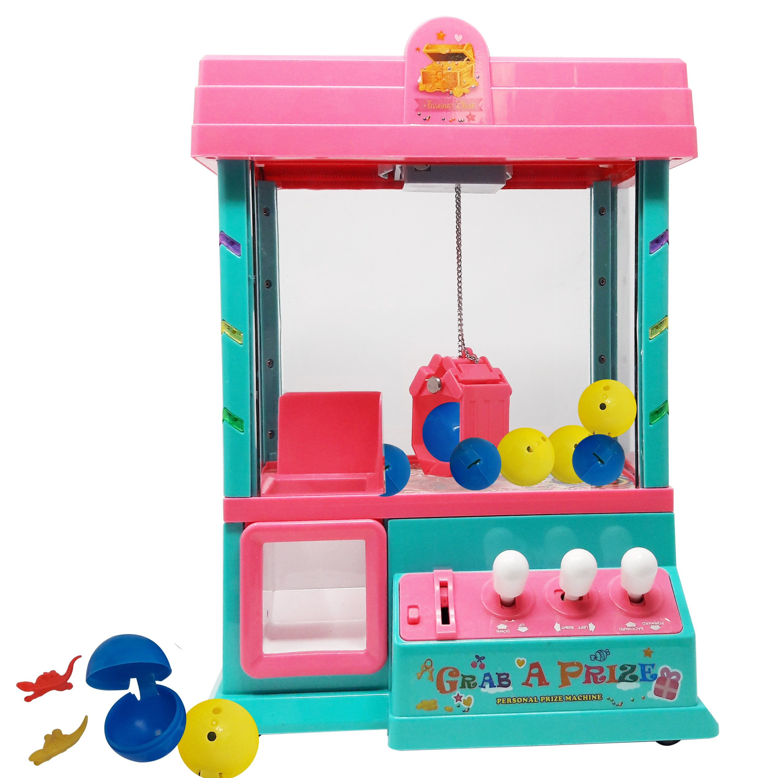 Claw Home Arcade Game Prize Grabber Carnival LED Lights Animation Adjustable Sounds USB Port Cable with 10 Plush Toys and 12 Filled Eggs by TSF TOYS (Image #8)