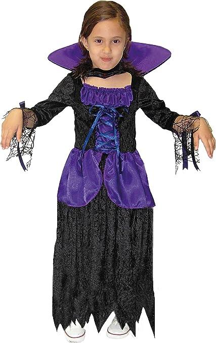 EL CARNAVAL Disfraz vampirina niña Lila-Negra Talla de 4 a 6 años ...
